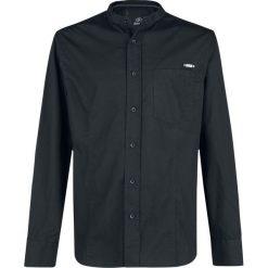 Brandit Gibson Stand Up Collar Koszula czarny. Białe koszule męskie na spinki marki Brandit, l, z aplikacjami, z bawełny, z długim rękawem. Za 121,90 zł.