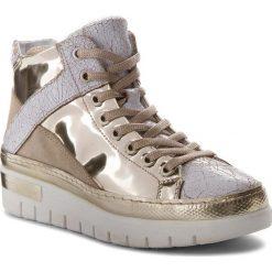 Sneakersy KHRIO - 181K7300CRRFSLX Bianco/Platino/Visone. Żółte sneakersy damskie Khrio, z materiału. W wyprzedaży za 389,00 zł.