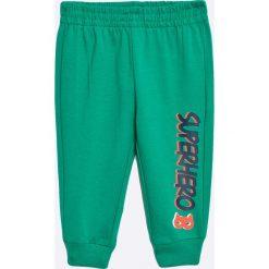 Blu Kids - Spodnie dziecięce 68-98 cm. Niebieskie spodnie chłopięce Blukids, z bawełny. W wyprzedaży za 14,90 zł.
