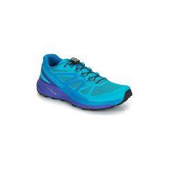 Buty do biegania Salomon  SENSE RIDE W. Szare buty do biegania damskie marki Salomon, z gore-texu, na sznurówki, gore-tex. Za 512,10 zł.