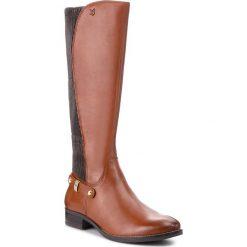 Oficerki CAPRICE - 9-25521-21 Cognac Nappa 303. Brązowe buty zimowe damskie Caprice, z materiału, przed kolano, na wysokim obcasie. Za 519,90 zł.