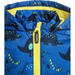 Mothercare DINO LINED BABY Kurtka przeciwdeszczowa lights multicolor. Niebieskie kurtki chłopięce przeciwdeszczowe marki mothercare, z materiału. Za 129,00 zł.