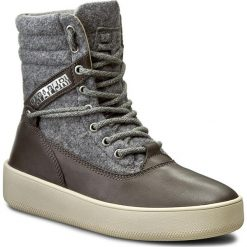 Botki NAPAPIJRI - Nova 13741554  Dark Grey N88. Szare buty zimowe damskie marki Napapijri, z materiału, na obcasie. W wyprzedaży za 349,00 zł.