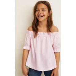 Mango Kids - Top dziecięcy Giorgia 110-164 cm. Szare bluzki dziewczęce marki Mango Kids, z bawełny. Za 69,90 zł.