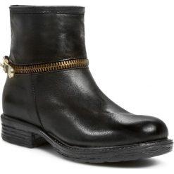 Botki VENEZIA - Montone Nero B335 Fondo Gioia Nero. Czarne buty zimowe damskie Venezia, z materiału, na obcasie. W wyprzedaży za 269,00 zł.