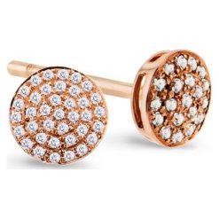 Unikalne Kolczyki Złote - złoto różowe 333, Diament 0,10ct. Czerwone kolczyki damskie W.KRUK, z diamentem, złote. Za 1190,00 zł.