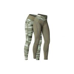 Legginsy YOGA+ 920 damskie. Brązowe legginsy skórzane marki DOMYOS, l. W wyprzedaży za 79,99 zł.