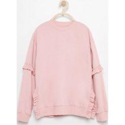 Bluzy dziewczęce: Bluza z falbanami - Różowy