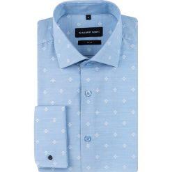 Koszula SIMONE slim KDNS000629. Białe koszule męskie na spinki Giacomo Conti, m, z włoskim kołnierzykiem, z długim rękawem. Za 169,00 zł.