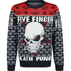 Five Finger Death Punch Holiday Sweater 2018 Sweter z dzianiny wielokolorowy. Niebieskie swetry klasyczne męskie marki Cropp, l. Za 264,90 zł.