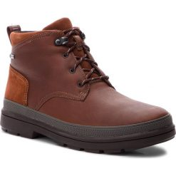 Kozaki CLARKS - RushwayMid Gtx GORE-TEX 261355547 British Tan Leather. Brązowe botki męskie Clarks, z gore-texu. Za 669,00 zł.
