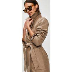 Noisy May - Płaszcz Dido. Brązowe płaszcze damskie marki Noisy May, m, w paski, z materiału, klasyczne. Za 299,90 zł.