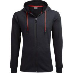 Bluza męska BLM605 - głęboka czerń - Outhorn. Brązowe bluzy męskie rozpinane marki Outhorn, m. W wyprzedaży za 99,99 zł.