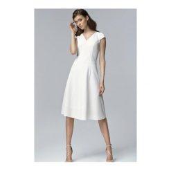 Sukienka Celine S60 ecru. Białe sukienki mini marki NIFE, eleganckie. Za 139,00 zł.