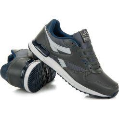 Buty skate męskie: Szare sznurowane obuwie  OLIVIA