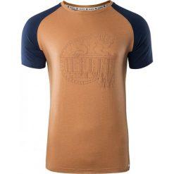 IGUANA Koszulka męska  BAAKO Apple Cinnamon/ Dress Blues r. L. Brązowe koszulki sportowe męskie marki IGUANA, s. Za 43,82 zł.