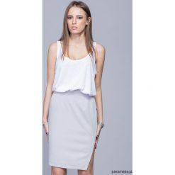 Spódnice wieczorowe: Asymetryczna elegancka spódnica-szara H018