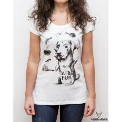 Koszulka damska z Labradorem kucharzem. Szare bluzki z odkrytymi ramionami Pakamera. Za 79,00 zł.