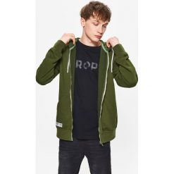 Bluzy męskie: Gładka bluza z kapturem - Khaki