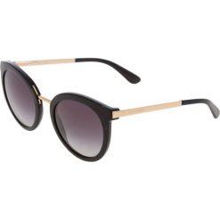 Dolce&Gabbana Okulary przeciwsłoneczne black. Czarne okulary przeciwsłoneczne damskie lenonki Dolce&Gabbana. Za 839,00 zł.