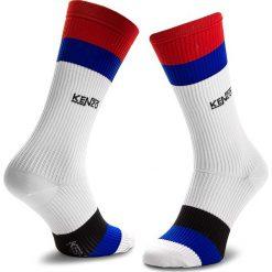 Skarpety Wysokie Męskie KENZO - 8SM210 JSY White 01. Czerwone skarpetki męskie marki Happy Socks, z bawełny. Za 129,00 zł.