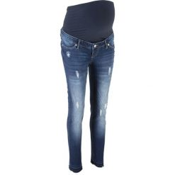 """Dżinsy ciążowe SKINNY bonprix niebieski """"stone"""". Niebieskie jeansy damskie marki House, z jeansu. Za 129,99 zł."""