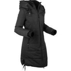 Płaszcz pikowany outdoorowy bonprix czarny. Czarne płaszcze damskie bonprix. Za 319,99 zł.