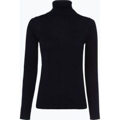 Brookshire - Sweter damski z domieszką wełny merino, niebieski. Czarne swetry klasyczne damskie marki brookshire, m, w paski, z dżerseju. Za 179,95 zł.