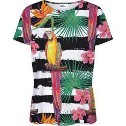 Colour Pleasure Koszulka damska CP-030 188 biało-czarna r. XXXL/XXXXL. Białe bluzki damskie Colour pleasure. Za 70,35 zł.