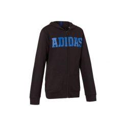 Bluza z kapturem Adidas. Czarne bluzy chłopięce rozpinane Adidas, z kapturem. Za 179,99 zł.
