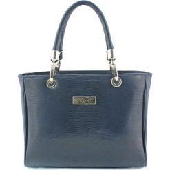 Torebki klasyczne damskie: Skórzana torebka w kolorze granatowym – (S)30 x (W)22 x (G)12 cm