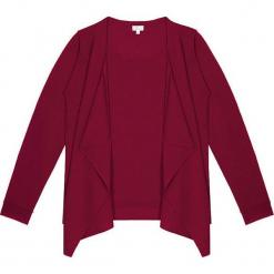 Sweter kaszmirowy 2w1 w kolorze bordowym. Czerwone kardigany damskie marki Ateliers de la Maille, z kaszmiru. W wyprzedaży za 591,95 zł.