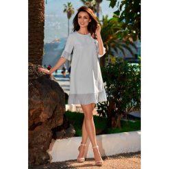 Sukienka z falbanką jasnoszary JORDAN. Szare sukienki hiszpanki Lemoniade, na co dzień, z szyfonu, z falbankami. Za 179,90 zł.