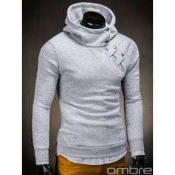 BLUZA MĘSKA Z KAPTUREM PACO - SZARA. Szare bluzy męskie rozpinane marki Ombre Clothing, m, z bawełny, z kapturem. Za 69,00 zł.