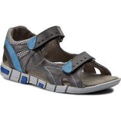 Sandały męskie skórzane: Sandały KORNECKI – 03469  W/Grey/S