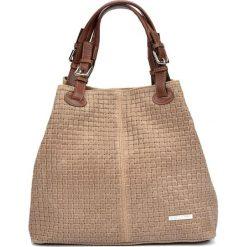 Torebka w kolorze beżowym - (S)30 x (W)36 x (G)17 cm. Brązowe shopper bag damskie Bestsellers bags, w paski, z materiału, na ramię. W wyprzedaży za 289,95 zł.