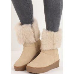 Beżowe Śniegowce Getting On. Brązowe buty zimowe damskie Born2be. Za 99,99 zł.
