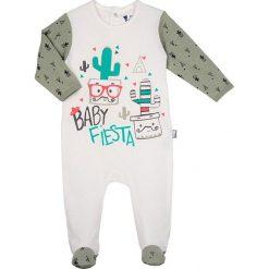 Śpiochy niemowlęce: Śpioszki w kolorze kremowo-szarym