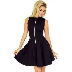 123-10 sukienka z ekspresem z przodu i kieszonkami - gruba lacosta cza. Czarne długie sukienki marki numoco, l, z długim rękawem, oversize. Za 125,00 zł.