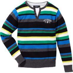 Swetry chłopięce: Sweter bonprix czarny w paski