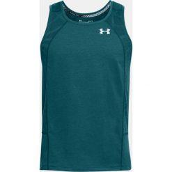 Under Armour Koszulka męska Swyft Singlet turkusowa r. XL  (1318416-716). Szare koszulki sportowe męskie marki Under Armour, z elastanu, sportowe. Za 123,66 zł.