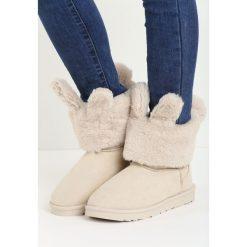 Beżowe Śniegowce Cutie Bunny. Brązowe buty zimowe damskie Born2be. Za 89,99 zł.
