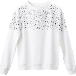 Bluza z biżuterią. Szare bluzy damskie marki La Redoute Collections, m, z bawełny, z kapturem. Za 141,08 zł.