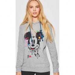 Bluza z kapturem MICKEY MOUSE - Jasny szary. Fioletowe bluzy z kapturem damskie marki Reserved, l. Za 99,99 zł.