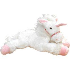 Przytulanki i maskotki: Maskotka Jednorożec 30 cm – biały (449062B)