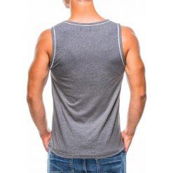 T-shirty męskie: BOKSERKA MĘSKA Z NADRUKIEM S782 – GRAFITOWA