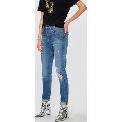 Levi's - Jeansy 501 Customized Skinny. Brązowe jeansy damskie marki Levi's®, z bawełny. W wyprzedaży za 299,90 zł.