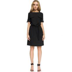 FIFI Przewiązana sukienka z kieszeniami - czarna. Czarne sukienki hiszpanki Stylove, na co dzień, sportowe, sportowe. Za 139,99 zł.
