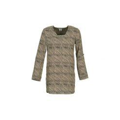 Sukienki krótkie Vero Moda  COOLI. Brązowe sukienki mini Vero Moda, m, z krótkim rękawem. Za 111,80 zł.