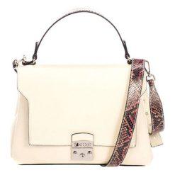 Torebki klasyczne damskie: Skórzana torebka w kolorze beżowym – (S)27 x (W)26 x (G)17 cm